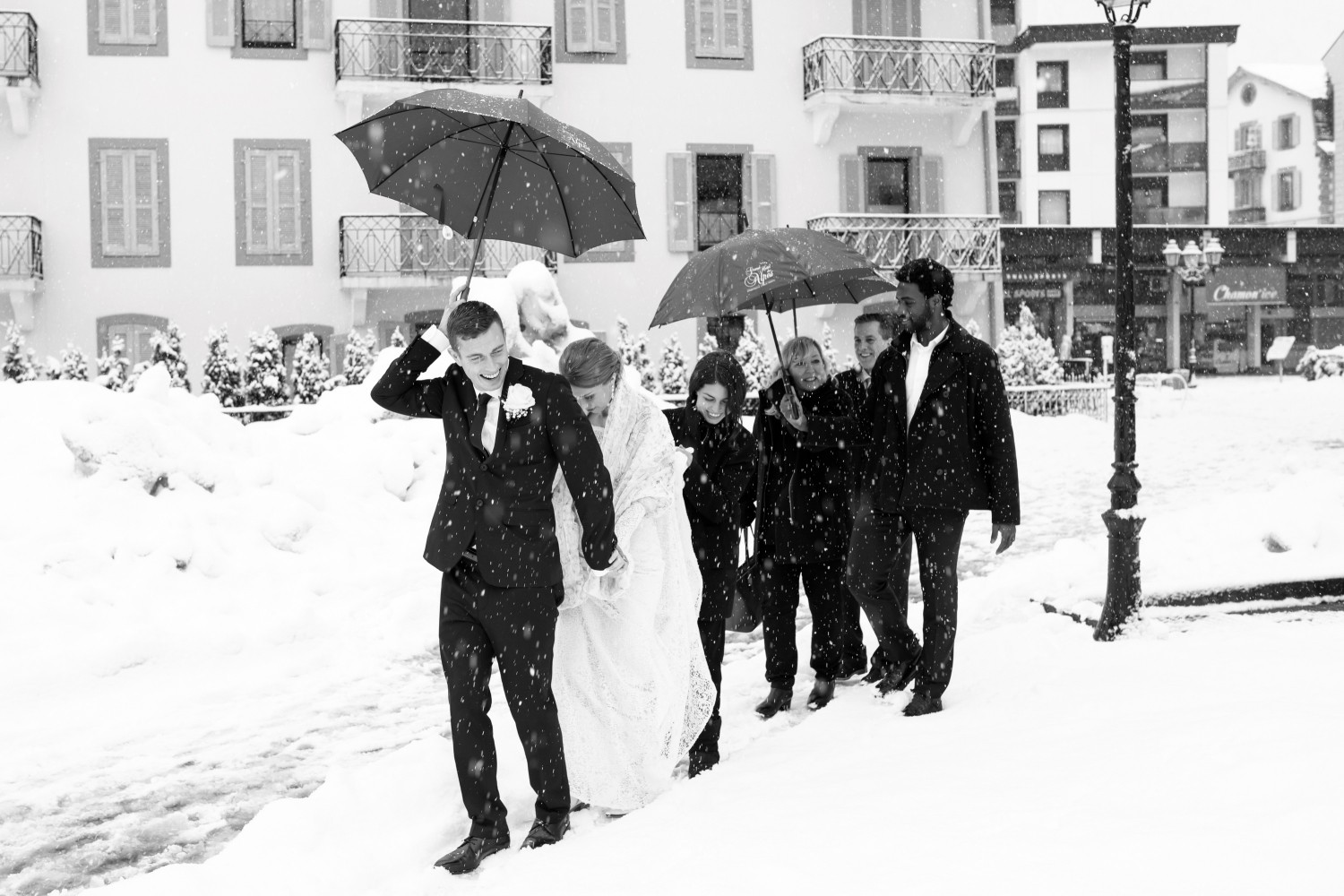 Airsnap, wedding photography and videography — Katrina & Zac, Chamonix