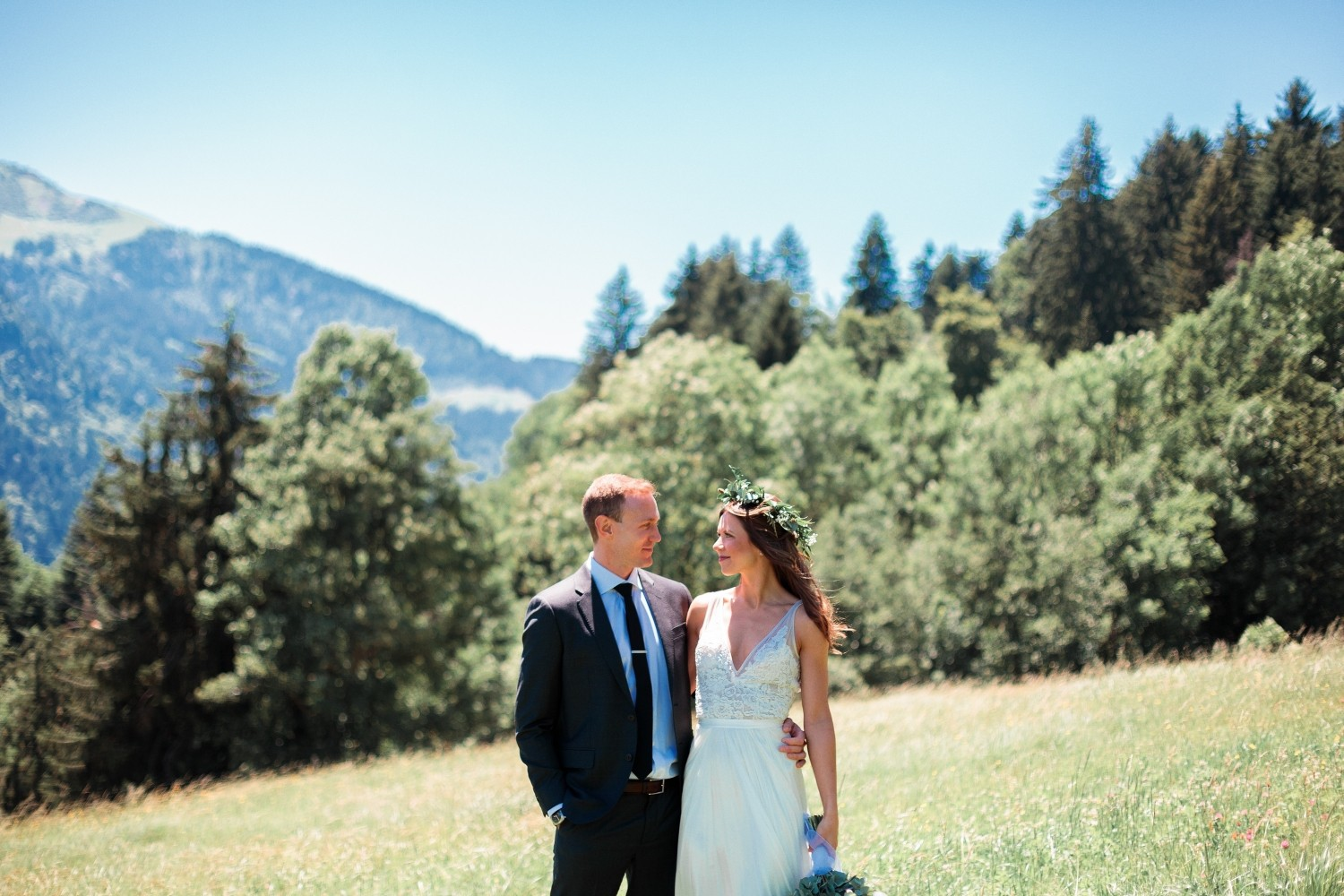 Airsnap, wedding photography and videography — Laura & David, French Alps